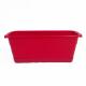 Pack fyora : jardinière et soucoupe rouge cerise