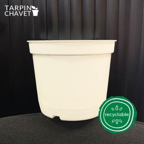 Pot de Fleurs Horticole en plastique de 2 litres - Couleur : BLANC