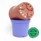 Pot de Fleurs Horticole en plastique de 2 litres - Couleur : BLEU LAVANDE 2