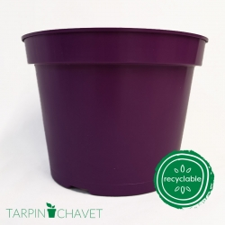 Pot de Fleurs Horticole 3 litres - coloris PRUNE