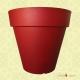 Grand Pot de Fleurs extérieur plastique FRIDA rouge