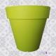 Grand Pot de Fleurs extérieur plastique FRIDA violet
