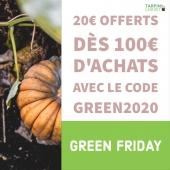 #GREENFRIDAY c'est parti ! Profitez de -20€ dès 100€ d'achats sur le site tarpin-chavet.fr 🎃 Réservé aux 100 premières commandes..; Dépêchez-vous ! . #jardinage #potager #jardin #nature #fleurs