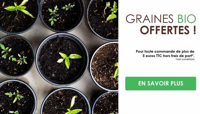 Recevez un sachet de graines bio gratuit